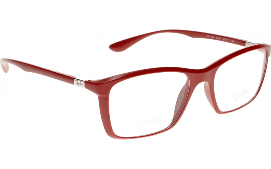 Glasses Frames Us : New Authentic Liteforce Ray Ban RX7036 5441 Red 52mm ...