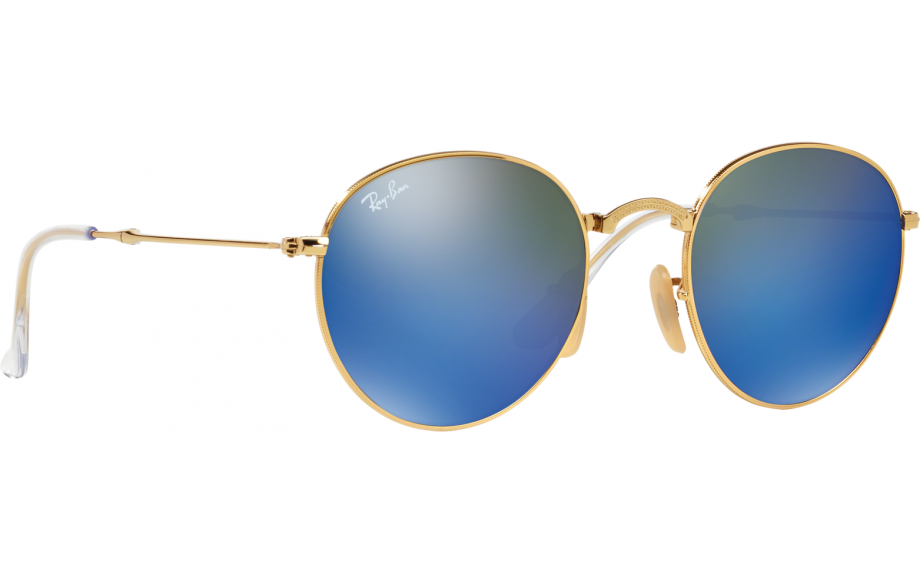 a4042a4a1 Ray-Ban Round Metal Folding RB3532 001/68 47 Sunglasses - Free Shipping |  Shade Station
