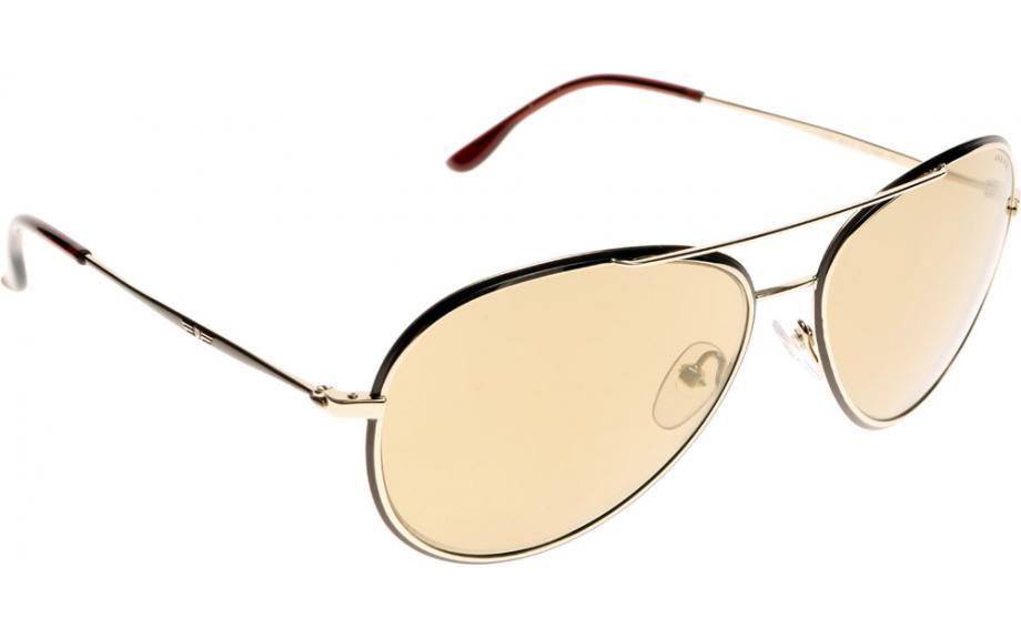 Metal Detail Aviator Sunglasses in Gold Brown S8299 F93W 58 Police J8m5U3Oox